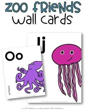 Letter Cards {Zoo Friends}
