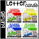 Letter Cards and Worksheets BUNDLE - Games,