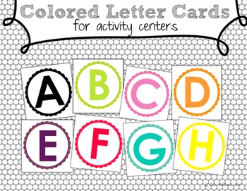 Letter Cards for Activities and Centers