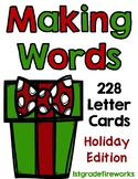 Letter Cards for MAKING WORDS..Holiday Edition