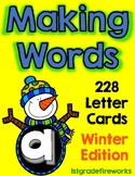 Letter Cards for MAKING WORDS..WINTER Edition