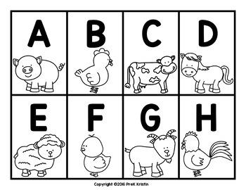 Alphabet Letter Cards: Animal Themed