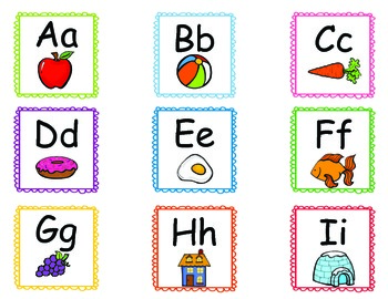 Letter Cards for Sight Word Practice