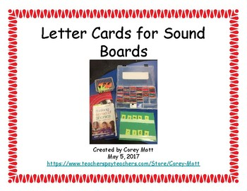 Letter Cards for Sound Boards