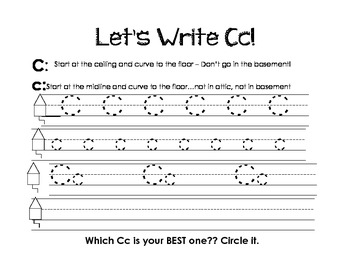 Letter Cc Activity Packet