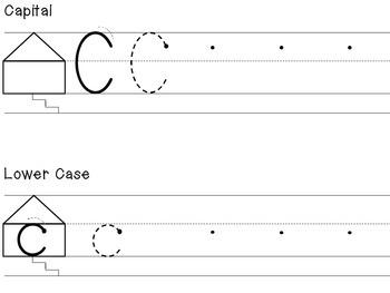Orton Gillingham letter C bumpy board sheet