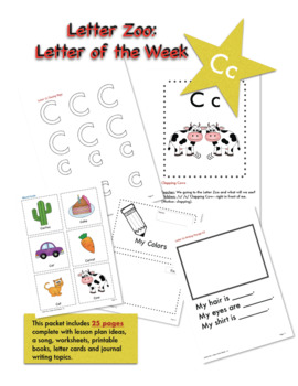 Letter Cc (C is for Colors): Letter Zoo- Preschool Curriculum