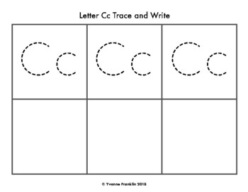 Letter Cc Color, Trace & Write the Room