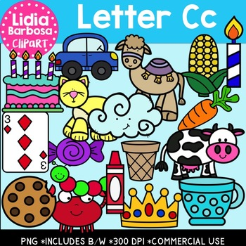 Letter Cc Digital Clipart
