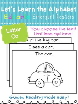 Letter Cc *Editable* Alphabet Emergent Reader
