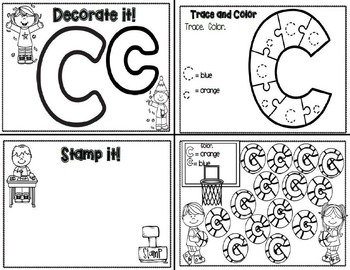 Letter Cc- Interactive Activities Booklet