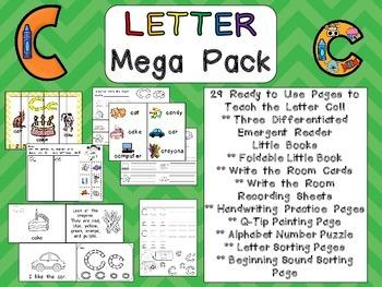 Letter Cc Mega Pack- Kindergarten Alphabet- Handwriting, Little Books, and MORE!