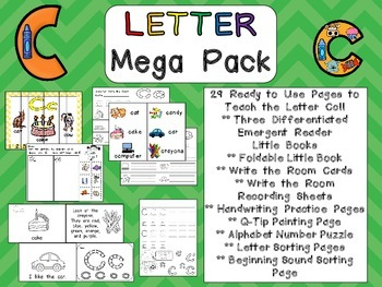 Letter Cc Mega Pack- Kindergarten Alphabet- Handwriting, L