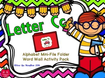 Letter Cc Mini-File Folder Word Wall Activity Pack