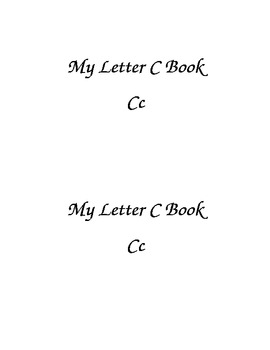 Letter Cc Printable Book