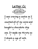 Letter Cc Reading Page