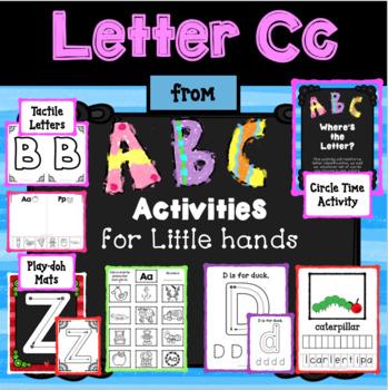 Letter Cc from ABC ACTIVITIES FOR LITTLE FINGERS for Preschoolers/Kindergartener