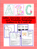 Letter Characters (A, B, C and M) Complete Guide and Printable Templates