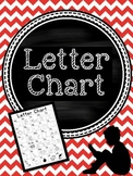 Letter Chart for Reading and Writing Strategies
