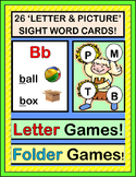 """Letter Games!"" - Group Games, Folder Games for Initial Letters and Sounds"