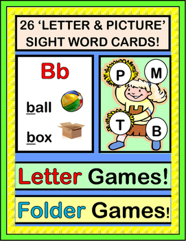 """""""Letter Games!"""" - Group Games, Folder Games for Initial Letters and Sounds"""