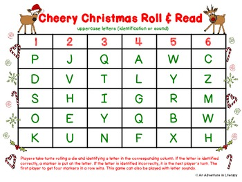 Letter Cheery Christmas Roll & Read
