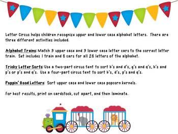 Letter Circus Alphabet Recognition Center