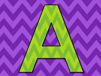 Letter Clip Art ~ Free ~ Green Chevron Letters ~ Alphabet ~ Graphics ~ Fun Font