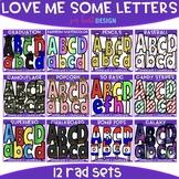 Letter Clip Art - Love Me Some Letters Bundle {jen hart Clip Art}