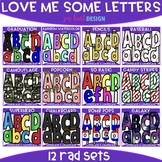 Letter Clip Art - Love Me Some Letters Bundle {jen hart Clip Art}