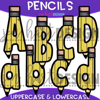 Letter Clip Art - Pencil Letters {Jen Hart Clip Art}