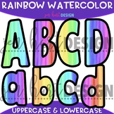 Letter Clip Art - Rainbow Watercolor Letters {Jen Hart Clip Art}