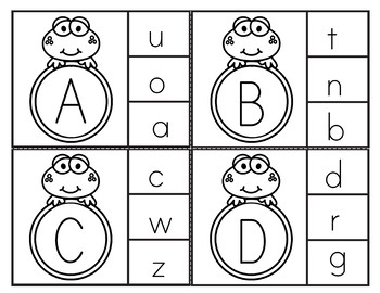 Letter Clip Cards {Frogs}