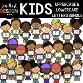 Letter Clipart - Kid Alphabet Clip Art Bundle - Jen Hart Design