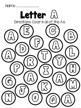 Letter Color: Alphabet Uppercase Recognition Center