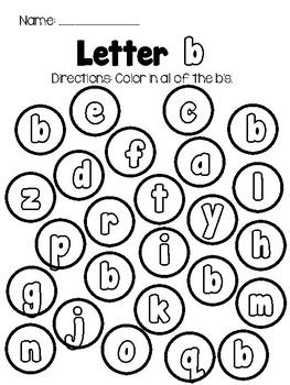 Letter Color: Alphabet Recognition - LOWERCASE letters
