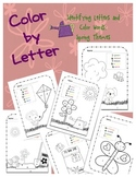 Letter Coloring: Back to School Color by Letter