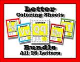 Letter Coloring Sheets for Preschool & Kindergarten ~ Writ