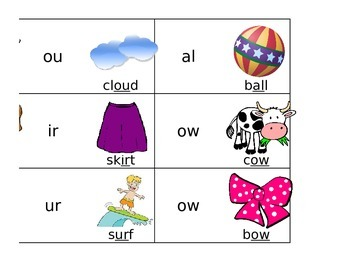 Letter Combination Flashcards
