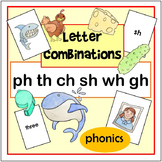 Letter Combination (Phonics) Flashcards (ph, sh, th, ch, wh, gh)