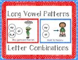 Letter Combinations & Long Vowel Phonics Posters Anchor Chart + Desk Helper