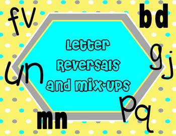 Letter Reversals {Mixing up letters that look or sound alike???}