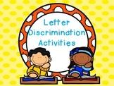 Letter Discrimination Activities