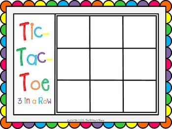 Letter Confusion Tic-Tac-Toe Literacy Center & Color by the Code