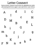 Letter Connect- Visual scanning activity