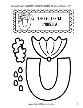 Letter Craft Templates S, T, U - NO PREP Color and BW