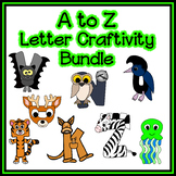 Letter Craftivity Bundle - A to Z - Zoo Phonics Inspired -