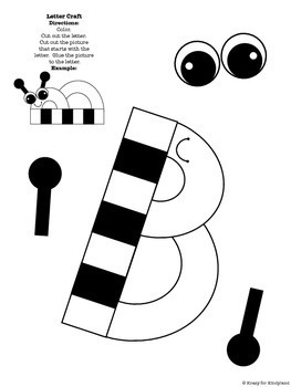 Year's Worth of Letter Crafts, Interactive Notebook PREVIEW & FREEBIE: Letter B