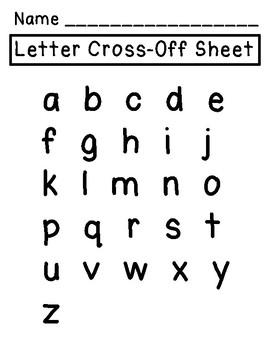 Letter Cross Off