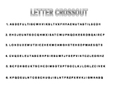 Letter Crossout Activity, German, Alphabet